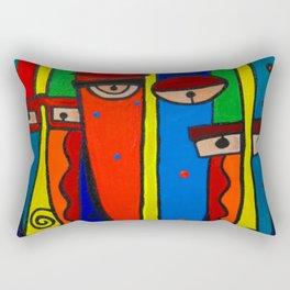 Facebook Profiles Rectangular Pillow