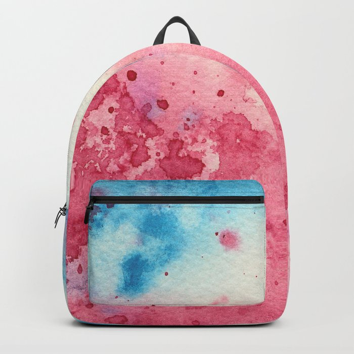 When pink meets blue    watercolor Backpack