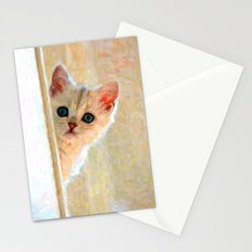 Kitten By The Window - Painting Style Stationery Cards