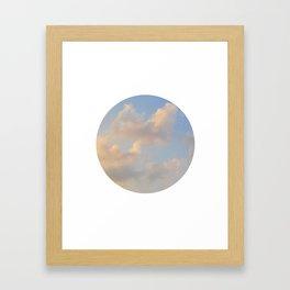 Painterly Clouds Framed Art Print