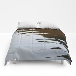 Dark and Clear Water Comforters