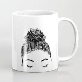messy girl bun Coffee Mug