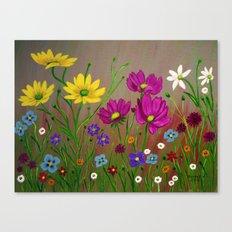 Spring Wild flowers  Canvas Print