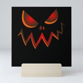 Halloween Costume Pumpkin Monster Scary Monster Mini Art Print