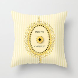 Press For Champagne Service Button Throw Pillow