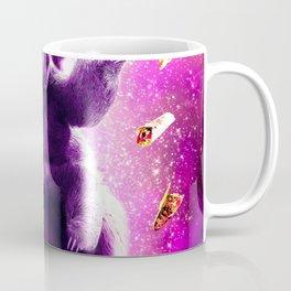 Laser Eyes Space Cat Riding Sloth, Llama - Rainbow Kaffeebecher