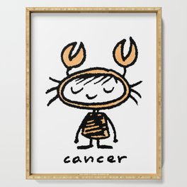 crabby cancer cutie pie Serving Tray