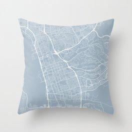 Chula Vista Map, USA - Slate Throw Pillow