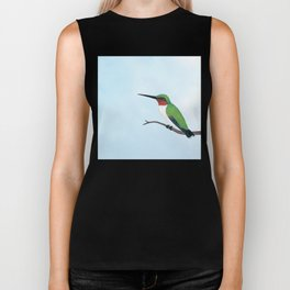 the studious male (ruby-throated hummingbird) Biker Tank