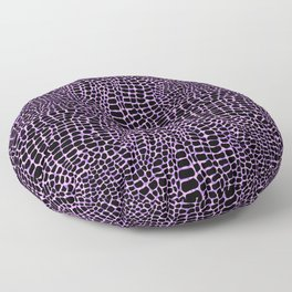Neon crocodile/alligator skin Floor Pillow