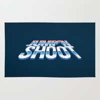 megaman Area & Throw Rugs featuring Jump'n Shoot by thom2maro