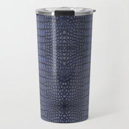Cobalt Alligator Print Travel Mug