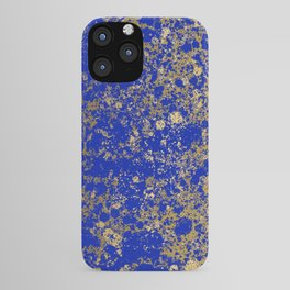 Royal Blue and Gold Patina Design iPhone Case