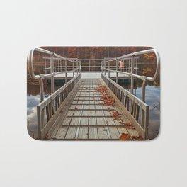 Autumn Lake Boardwalk Bath Mat