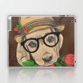 Cute Hipster Pup Laptop & iPad Skin