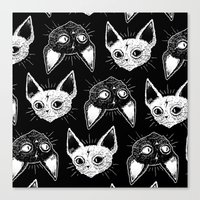 loll3 Canvas Prints featuring Kittens  by lOll3