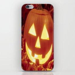 Halloween 🎃 Carved Lighted Pumpkin iPhone Skin