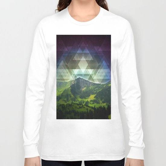 Geometric Nature Long Sleeve T-shirt