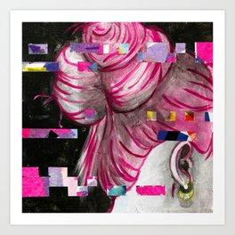 'Lucy' - Glitch Portrait Art Print