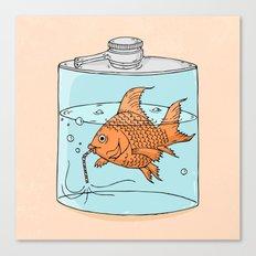 Drink like a fish Canvas Print