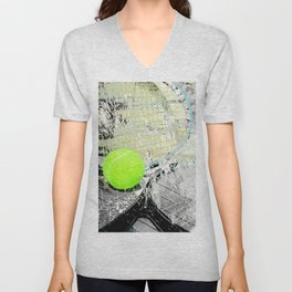 Tennis Art 2 Unisex V-Neck