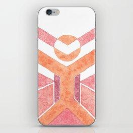 Vitruvian Man Da Vinchi - abstract minimalist people 1 iPhone Skin