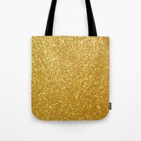 gold glitter Tote Bags featuring GOLD GLITTER by I Love Decor