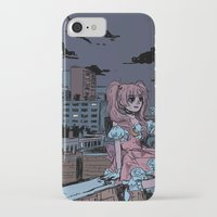 magical girl iPhone & iPod Cases featuring MONTREAL MAGICAL GIRL by Natalie Nardozza