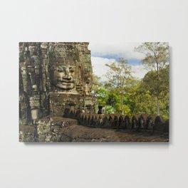 Buddha Relief in Bayon Temple Metal Print