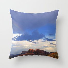 Hint of a Rainbow over Sedona by Reay of Light Throw Pillow