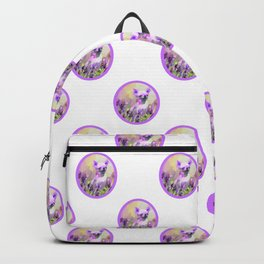 Chihuahua in Lavender Backpack
