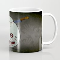 zombies Mugs featuring Zombies by Marcos Lozano