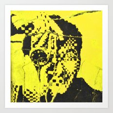 Pecker Portrait in yellow   John Waters Art Print
