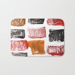 Licorice abstract watercolor Bath Mat
