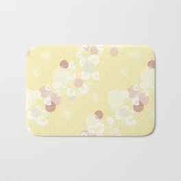 Floral Seamless Pattern on Yellow Bath Mat