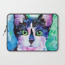 Black and White Tuxedo Cat Laptop Sleeve