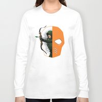 superheros Long Sleeve T-shirts featuring Masked by Dooomcat