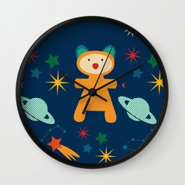 space teddy bear Wall Clock
