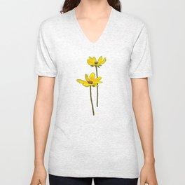 Yellow Daisy Unisex V-Neck