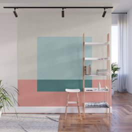 Blue Square Wall Mural