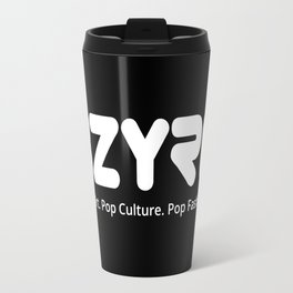 BZYRQ Logo (White on Black) Travel Mug