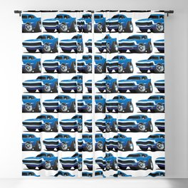 Classic Sixties Style American Muscle Car Hot Rod Cartoon Blackout Curtain