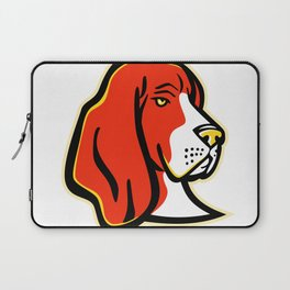 Basset Hound Dog Mascot Laptop Sleeve