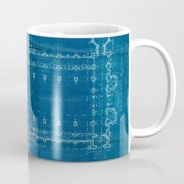 Church Floor Plan Blueprint Coffee Mug