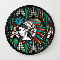 southwest Wall Clocks featuring Southwest by Vannina