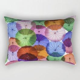 Umbrellas in the sky Rectangular Pillow