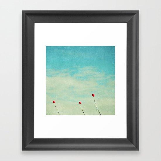 three red balloons II Framed Art Print