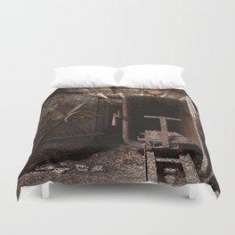 Rusty Grunge Silk Mill Duvet Cover
