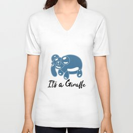 Patrick It's a Giraffe Meme Elephant Bubble Unisex V-Neck