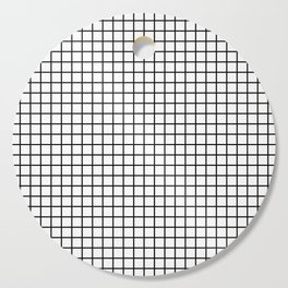 Black and White Grid Graph Cutting Board